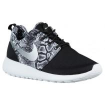 Damen Nike Roshe One Print Schwarz/Weiß/Metallic Silber Sneakers