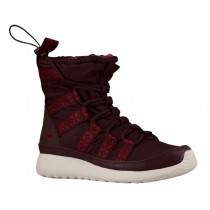 Nike Roshe One Hi Sneakerboot Dunkel Burgundy/Licht Knöchern/Team Rot Damen Sneakerboot