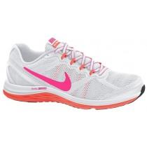 Nike Dual Fusion Run 3 Damen Sport Weiß/Wolf Grau/Hell Mango/Hyper Rosa