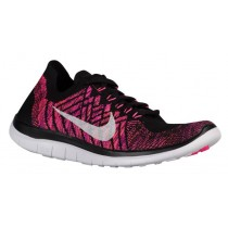 Nike Free 4.0 Flyknit Schwarz/Rosa Pow/Fuchsie Blitzen Damen Sportschuhe
