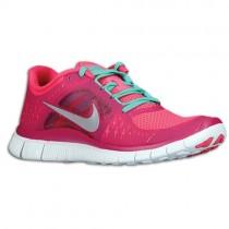 Damen Nike Free Run + 3 Rosa Force/Reflektierend Silber/Sport Fuschia Running Schuhe
