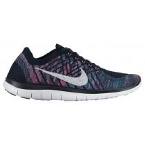 Nike Free 4.0 Flyknit Dunkel Obsidian/Weiß/Strahlend Smaragd Damen Trainingsschuhe