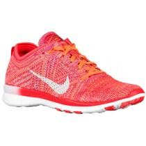 Nike Free Tr 5 Flyknit Damen Trainingsschuhe Hell Crimson/Hell Zitrusfrucht/Gesamt Orange/Weiß