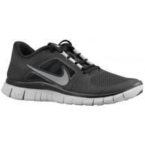 Nike Free Run + 3 Schwarz/Wolf Grau/Reflect Silber Damen Runningschuh