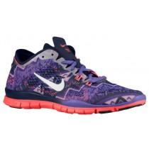 Nike Free 5.0 Tr Fit 4 Damen Laufschuhe Obsidian/Hyper Traube/Hyper Punch/Elfenbeinern