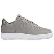 Nike Air Force 1 '07 Low Premium Suede Damen Sneakers Grau/Weiß