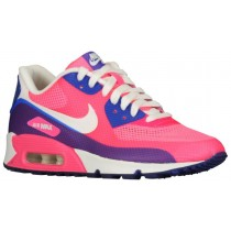 Nike Air Max 90 Hyperfuse Premium-Mesh/Leather Damen Sneakers Rosa Blitzen/Hyper Blau/Sail