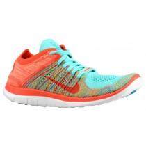 Nike Free 4.0 Flyknit N7 Damen Running Schuhe Hyper Türkis/Hell Crimson/Neon Türkis