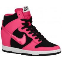Damen Nike Dunk Sky Hi Essential/Wedge Schwarz/Weiß/Feuerberry Sneakers
