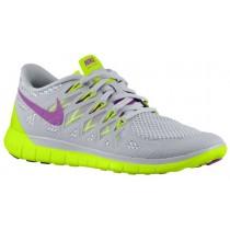 Damen Nike Free 5.0 2014 Base Grau/Volt/Licht Base Grau/Hell Traube Running Schuhe