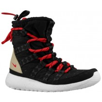 Nike Roshe One Hi Sneakerboot Print Schwarz/Sail/Linen/University Rot Damen Sneakerboot