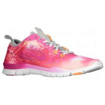 Damen Nike Free 5.0 Tr Fit 4 Print Weiß/Atomar Mango/Base Grau/Fusion Rosa Sports