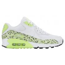 Nike Air Max 90 Premium Damen Sportschuhe Weiß/Ghost Grün