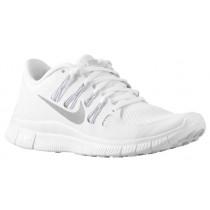 Nike Free 5.0+ Weiß/Metallic Silber/Rein Platin Damen Runningschuh