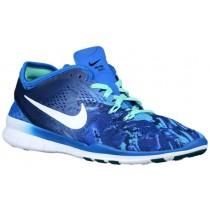 Nike Free 5.0 Tr Fit 5 Marble Print Damen Turnschuhe Soar/Dunkel Royal Blau/Grün Glühen