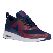 Nike Air Max Thea Print Damen Laufschuhe Loyal Blau/University Rot/Weiß