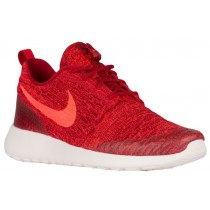 Nike Roshe One Flyknit Gym Rot/Hell Crimson/Team Rot/Silber Damen Sneakers