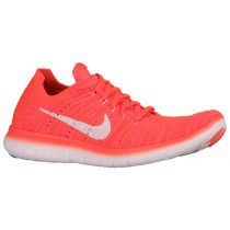 Nike Free Rn Flyknit Hyper Orange/Gesamt Crimson/Rosa Blast/Weiß Damenschuhe