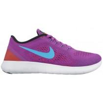 Nike Free Rn Hyper Violett/Schwarz/Gesamt Crimson/Gamma Blau Damen Schuhschaft