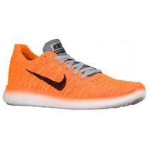 Nike Free Rn Flyknit Laser Orange/Gamma Blau/Cool Grau/Schwarz Damen Runningschuh
