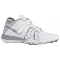 Damen Nike Free Tr 6 Weiß/Metallic Silber/Wolf Grau Damen-Trainingsschuh