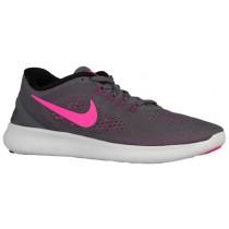 Nike Free Rn Dunkel Grau/Schwarz/Cool Grau/Rosa Blast Damen Laufschuh