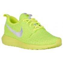 Nike Roshe One Nm Flyknit Volt/Weiß/Elektrisch Grün Damen Runningschuh