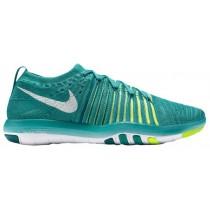 Damen Nike Free Transform Flyknit Deutlich Jade/Weiß/Rio Knickente/Voltage Grün Sneakers