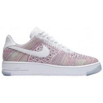 Nike Air Force 1 Low Flyknit Weiß/Smaragdgrün Damen Sneakers