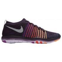 Damen Nike Free Transform Flyknit Grand Perle/Weiß/Hyper Violett/Gesamt Crimson Turnschuhe