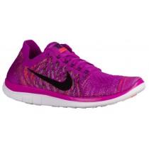 Damen Nike Free 4.0 Flyknit Farbig Perle/Fuchsie Glühen/Hell Crimson/Schwarz Running Schuhe