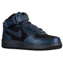 Nike Air Force 1 '07 Mid Prem Metallic Waffenkammer Marine Damen Sneaker