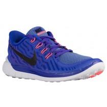 Nike Free 5.0 2015 Persisch Violett/Schwarz/Aluminum/Fuchsie Glühen Damen Schuhschaft