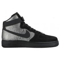 Nike Air Force 1 High Premium Metallic Silber/Schwarz Damen Sneakers