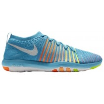 Nike Free Transform Flyknit Gamma Blau/Weiß/Gesamt Orange/Pfirsich-Creme Damenschuhe