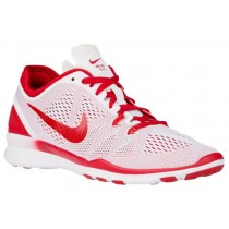 Nike Free 5.0 Tr Fit 5 Weiß/Gym Rot Damen Trainingsschuh