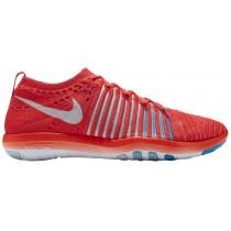 Nike Free Transform Flyknit Hell Crimson/Weiß/Blau Tönung Damen Sneakers