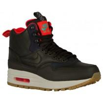Nike Air Max 1 Mid Sneakerboot Sequoia/Schwarz/Hell Crimson/Minze Damenschuh