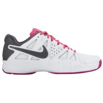 Damen Nike Air Vapor Advantage Weiß/Hyper Rosa/Farbig Rosa/Dunkel Grau Sportschuhe