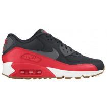 Nike Air Max 90 Essential Damen Sportschuhe Schwarz/Dunkel Grau/Hell Crimson/Silber