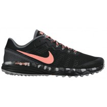 Nike Dual Fusion Trail 2 Schwarz/Cool Grau/Wolf Grau/Atomar Rosa Damen Schuhschaft