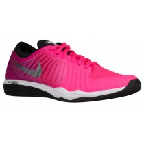 Nike Dual Fusion Tr 4 Print Hyper Rosa/Dynamisch Berry/Schwarz/Metallic Silber Damen Trainingsschuhe