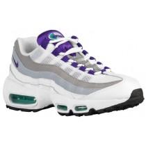 Damen Nike Air Max 95 Weiß/Smaragd Grün/Wolf Grau/Court Perle Sneakers