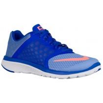 Nike Fs Lite Run 3 Damen Laufschuhe Kreide Blau/Rennfahrer Blau/Weiß/Atomar Rosa