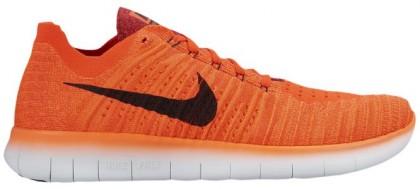 Nike Free Rn Flyknit Herren Turnschuhe Hell Crimson/University Rot/Hyper Orange/Schwarz