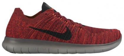 Nike Free Rn Flyknit Team Rot/Gesamt Crimson/Dunkel Grau/Schwarz Herren Trainingsschuhe