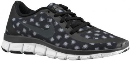Nike Free 5.0 V4 Ns Print Schwarz/Dunkel Grau/Weiß/Anthrazit Damen Sneakers