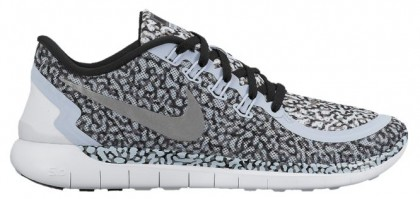 Nike Free 5.0 2015 Print Porpoise/Cool Grau/Weiß/Reflektierend Silber Damen Trainingsschuhe