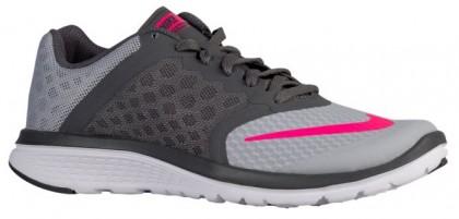 Nike Fs Lite Run 3 Damen Laufschuhe Wolf Grau/Dunkel Grau/Weiß/Hyper Rosa