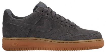 Nike Air Force 1 '07 Low Suede Damen Sneakers Grau